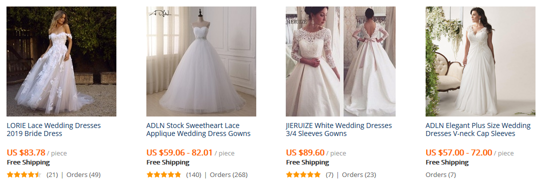wedding dresses Aliexpress